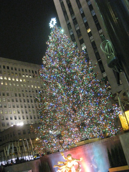 Christmas tree at the Rockefeller Center, Manhattan