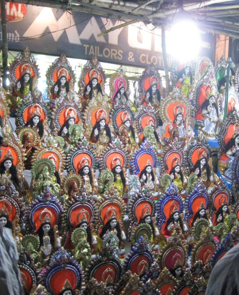 More idols being sold in Calcutta Photo Credit: BW