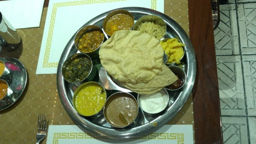"I often think of this Indian vegetarian ""thali"" I had in Journal Square in Jersey City when I think of perfect writing. The ingredients come together well in each item in its own bowl and then all the bowls come together in a beautiful arrangement making the eating experience fun."