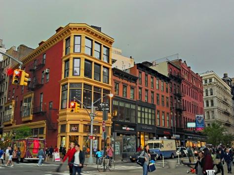 Street corner next  to Union Square.