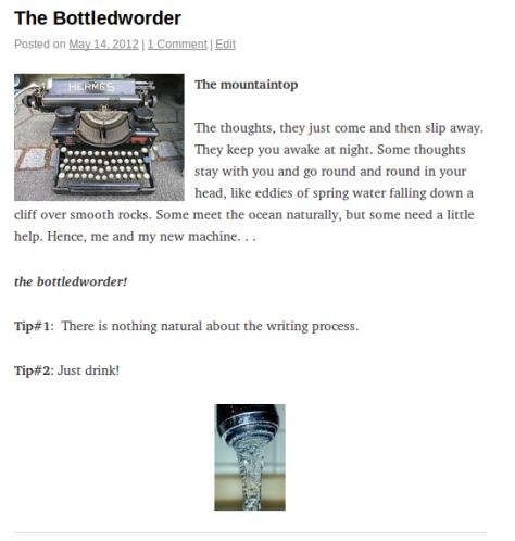 Bottledworder's first post!