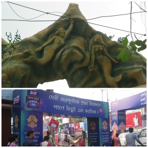 Arches at Buroshibtala, Behala (top) and Bosepukur Sitala Mandir (bottom)