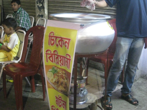 A roadside haandi of Biryani.