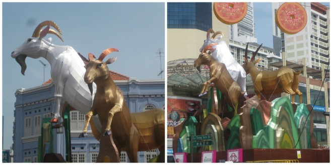 The Goat Lanterns at Eu Tong Sen St. and New Bridge Rd.
