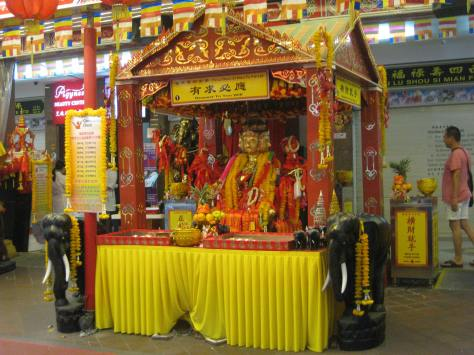 A temple in the Bugis Street area